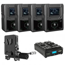 Core SWX 4x Helix 9 V-Mount Battery & Charger Kit