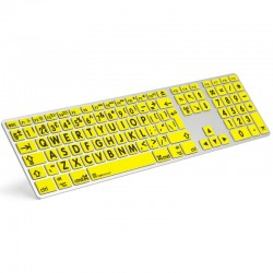 Logickeyboard Extra Large Print Apple keyboard for the Visually Impaired
