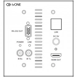 tvONE 1T-CT-654USWP CT654A Receiver Wall Plate