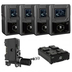 Core SWX 4x Helix 9 Gold Mount Battery & Charger Kit