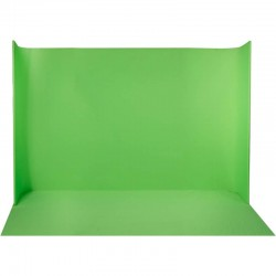 LEDGO LG-3522U Self Standing U-Shaped Curved Green Screen