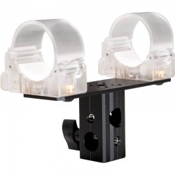 """LEDGO LG-ALTA1CLA Transparent clip for single tube with 5/8"""" Lamp Adapter"""