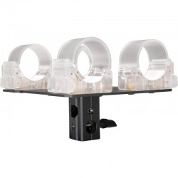 """LEDGO LG-ALTA2CLA Transparent clip for 2 tubes with 5/8"""" Lamp Adapter"""