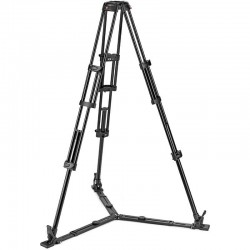 Manfrotto Aluminium Twin Leg With Ground Spreader Video Tripod 100/75mm Bowl
