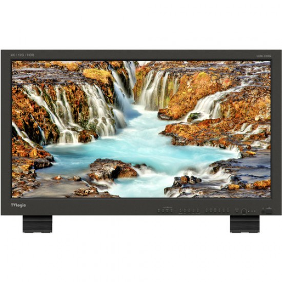 "TVLogic LUM-318G 31.1"" True 4K Monitor with 12G-SDI HDMI 2.0 and Enhanced Luminance"