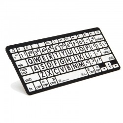 Logickeyboard XL Print  Black on White Bluetooth Mini Keyboard