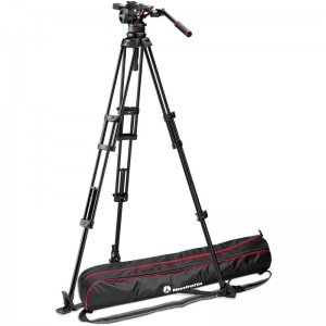 Manfrotto Nitrotech N12 Video Head with 545GB Twin Leg Tripod with Ground Spreader - 45% off List Price!