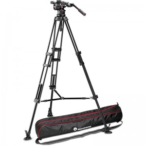 Manfrotto Nitrotech N12 Video Head with 545GB Twin Leg Tripod Kit with Mid level Spreader - 45% off List Price!