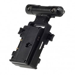 MovcamGold Mount Battery Bracket with Rod Clamp