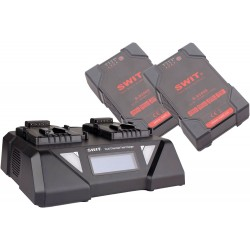 SWIT SP-834/3812S Twin V lock Battery and Charger Kit