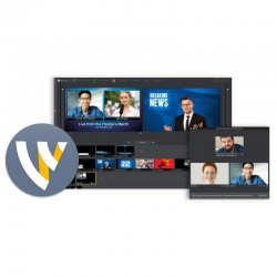 Telestream Wirecast Studio Live Video Streaming Production Software for Windows