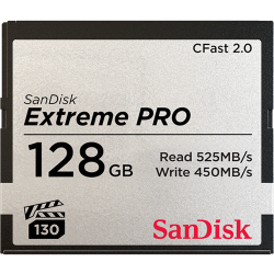 Sandisk Extreme Pro CFast 2.0 Memory Card - 128Gb