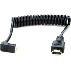 Atomos Right-Angle Micro to Full HDMI Coiled Cable 30-45cm
