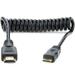 Atomos Full to Mini HDMI Coiled Cable 30-45cm