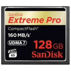 Sandisk 128GB Extreme Pro 160Mbs Compact Flash Memory Card